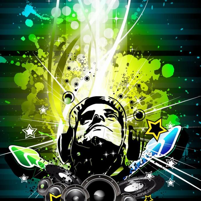 Music Poster Vector Illustration